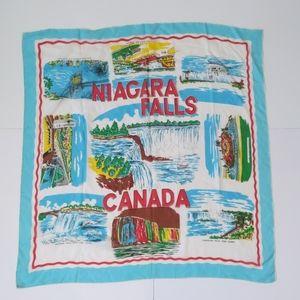 Vintage souvenir scarf Niagara Falls Canada